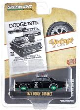 """Chase 1975 DODGE CORONET POLICE """"VINTAGE AD CARS"""" 1/64 GREENLIGHT 39050 D"""