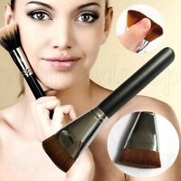 Newest Flat Buffer Wooden Liquid Foundation/Powder/Contour/Bronzer Make Up Brush