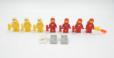 Lego Figuren Space Classic Astronauten & Motivsteine rot gelb Vintage