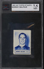 1961/62 TOPPS NHL HOCKEY INSERT STAMP Murry Balfour KSA 7.5 N-MINT + BLACKHAWKS