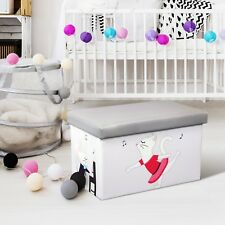 Kids Toy Organizer Storage box Toy Organizer Folding Ottoman Chest Playroom