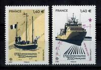 """(b31) timbres France nouveautés année 2020 """"300 ans d'hydrographie française"""""""