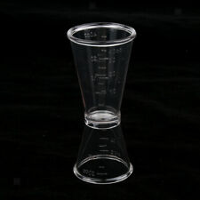 40cc Clear Plastic Double Cocktail Wine Shot Drink Bartender Measuring Cup