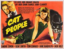 Cat People Simone Simon Vintage Movie Film Poster Art Print Picture A3