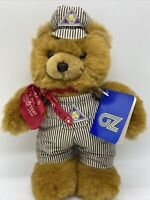 VTG ITL LoneStar Bear OZ Idaho Texas Line Railroad Plush Teddy Bear 1991 Tan