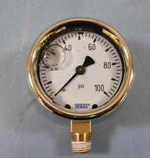"Wika Liquid Filled Pressure Gauge 213.40 2.5"" 100PSI/BAR"