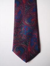 Krawatte VALENTINO PUCCINI - reine Seide, gemustert Lilatöne purpur blau