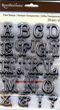 Clear Stamps CIRCUS ALPHA ALPHABET 2 Sheets Upper Case & Punctuation