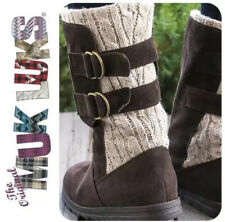 MUK LUKS Women's Luna Boots Fashion, Dark Brown (Coffee) US Size 7 New With Tags