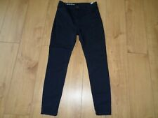 MARKS AND SPENCER NAVY HIGH WAISTED SKINNY JEANS SIZE 14 REG