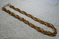 LONG CHUNKY GOLD TONE MULTI OVAL LINK CHAIN NECKLACE 26 INCH