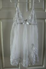 USED L Fredrick's of Hollywood white babydoll