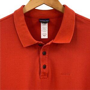 Patagonia Burnt Orange Organic Cotton Polo Shirt Size Large