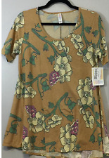 LULAROE PERFECT T TEE SIZE XS NWT  Heathered gold with floral print 500
