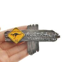 New Bloody Long Way Australie Kangourou Souvenir 3D Aimant de réfrigérateur