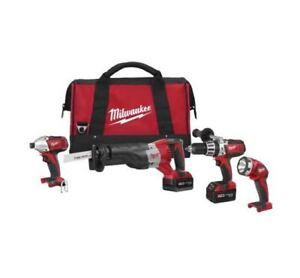 MILWAUKEE 2692-24 M18™ Cordless LITHIUM ION 4 Tool Combo Kit