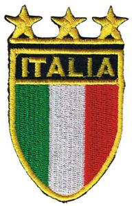 Italia Shield iron on/sew on cloth patch (os)