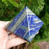 "Larger 2.6"" LAPIS LAZULI w PYRITE Pyramid Charged Crystal 9.5oz S1 *Read Below*"