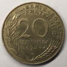 F.156 Monnaie Française 20 Centimes Marianne 1984 Achat Unitaire