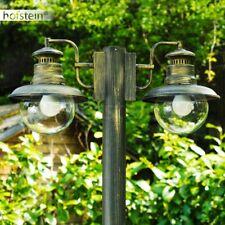 Kandelaber Außenstehlampe schwarz Gold Wege Lampe Garten Weg Aussen Steh Leuchte