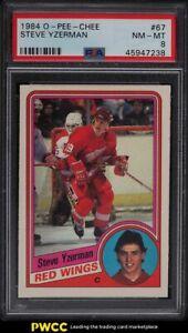 1984 O-Pee-Chee Hockey Steve Yzerman ROOKIE RC #67 PSA 8 NM-MT