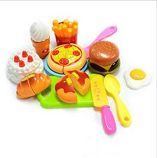 Kitchen Food Ice Cream Hamburger Fruit Fruit  Cake Pretend Play Toy Children  JX