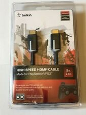 BELKIN HIGH SPEED HDMI CABLE FOR PLAY STATION 3 8FT, FREE SHIPPING