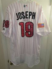 Phillies Tommy Joseph Game Used 2017 Stars & Stripe Jersey MLB COA Photo Matched
