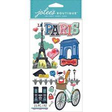 Jolee's PARIS 3d Scrapbook Stickers