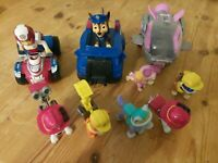 Paw Patrol Figure Vehicle Bundle Ryder Everest Chase Skye Marshall Rubble Lot