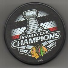 Chicago Blackhawks 2015 NHL Stanley Cup Champions Hockey Puck + FREE Cube
