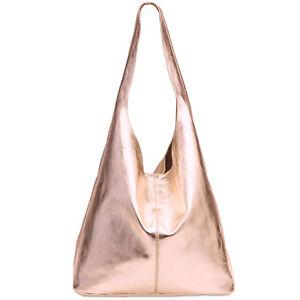 CASPAR TL767 Women Genuine Suede Leather Handbag Shoulder Bag Shopper Italy