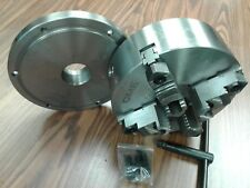 """10"""" 4-JAW SELF-CENTERING CHUCK top & bottom reversible jaws 2-1/4""""-8 adapter-new"""