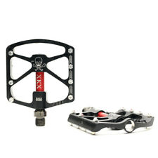 MTB Road Bike Bicycle High Performance Lightweig Plat Pedal CNC Alloy 7075 Black