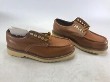 RARE Vintage Sears Roebucks Spice Tans Leather Ankle Boots Gunstock 9.5 EE NEW