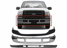 Replacement Front Bumper Combo For 2005-2007 Ford F-250 F-350 Chrome New