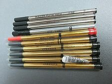 8 waterman refills for roller pen black+ one red