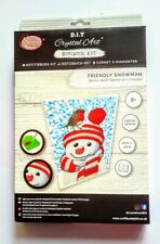 "Craft Buddy Crystal Art NOTEBOOK pupazzo di neve ""amichevole"""