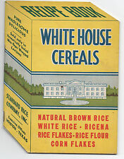 1930s Die Cut Recipe Booklet for White House Cereals w/ Nice Graphics Houston TX