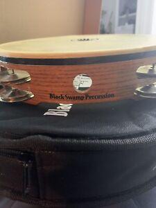 "Black Swamp Percussion SoundArt Series Double Row 10"" Tambourine German Silver"