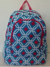 """BACKPACK,FULL SIZE WOMENS,GIRLS BLUE  GRAPHIC  BOOK BAG,TRAVEL,SCHOOL,17"""" NWT"""