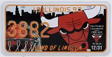 Plaque d'immatriculation américaine ILLINOIS Chicago Bulls