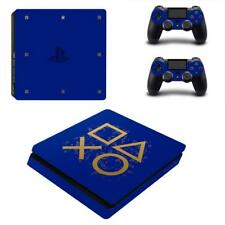 PS4 Slim Consoles Controllers PS4 Gaming Blue Vinyl Decal Skins Stickers Covers