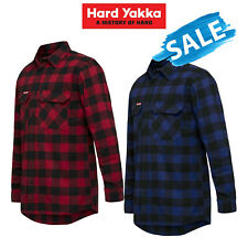 SALE! Hard Yakka Check Flannel Long Sleeve Shirt Button Work Hard Fashion Y07295