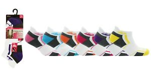 Ladies Cushioned Sole Trainer Liner Sports Socks Running Gym Hiking 3-8 6 Pairs