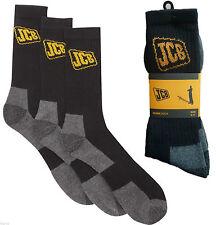 Mens Black JCB Work Socks Reinforced Heel and Toe Size 6 -11