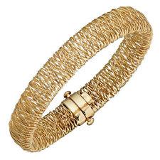 Echte Edelmetall-Armbänder ohne Steine im Armreif-Stil aus Gelbgold für Damen