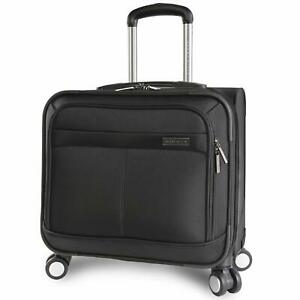 Perry Ellis 8-Wheel Spinner Mobile Office Black