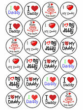 24 x Edible Father's Day Birthday Daddy Dad Grandad Grampy Cupcake Cake Topper
