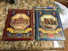 1940's Roma Parte 1 & 2 Cecami Fold Out B&W Photo Books, 30 pictures per book